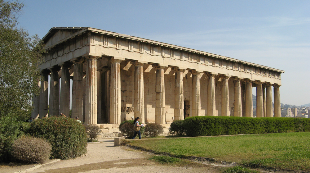 doric order greek architecture ancient greece temple of hephaestus
